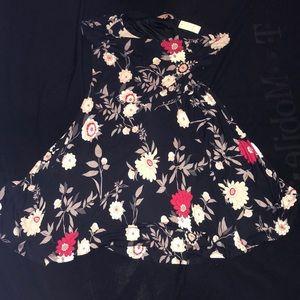 Ann Taylor Loft - Black Floral Dress